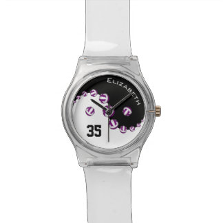 women's volleyball any color yin and yang wristwatches