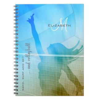 women's volleyball at the beach notebooks