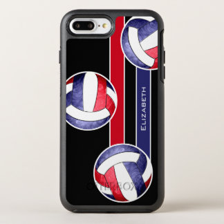 women's volleyball red white blue OtterBox symmetry iPhone 8 plus/7 plus case