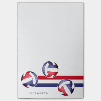 women's volleyball red white blue post-it® notes