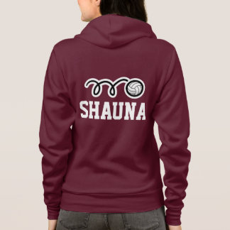 Women's volleyball team | player hoodies with name