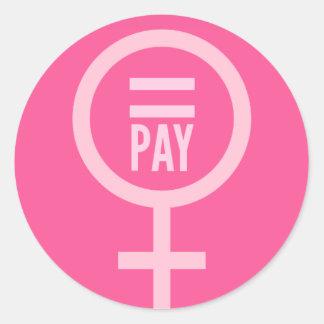 Women's Wages Round Sticker