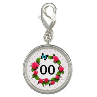 Womens Whimsical Rose 50th 60th 70th 80th Birthday Charm