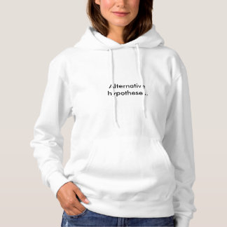 Women's White 'Alternative hypotheses.' Hoodie