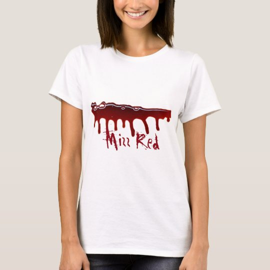 Women's White Bloody Mizz Red T-Shirt