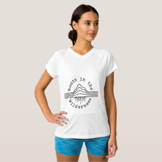 Women's White Champion Double-Dry V-Neck T-Shirt