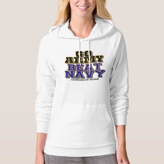 Women's White Go Army Beat Navy Hoodie