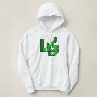 Women's White LJB Hooded Sweatshirt