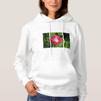 Women's white rose hoodie