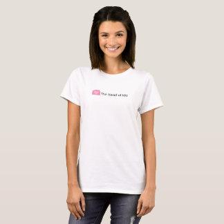 Women's White T-shirt with Heart of Ida logo
