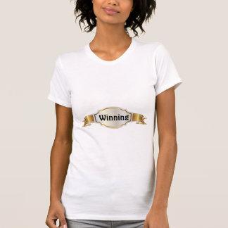Women's Winning, White Crew Neck T-Shirt