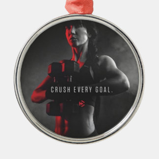 Women's Workout Inspiration - Crush Every Goal Metal Ornament