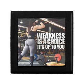 Women's Workout Inspiration - Weakness Is A Choice Gift Box