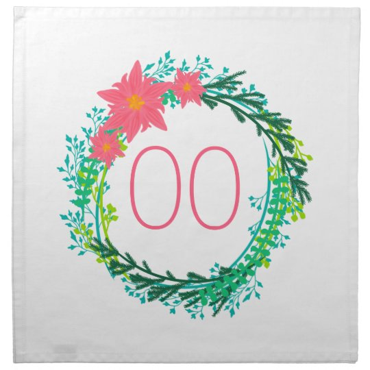 Women's Wreath 18th 21st 30th 40th 50th Birthday Napkin