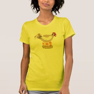 Women's Yellow Chicken Mama T-Shirt