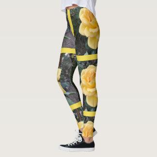Women's Yellow Rose Leggings