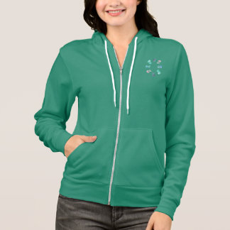 Women's zip hoodie with jellyfishes