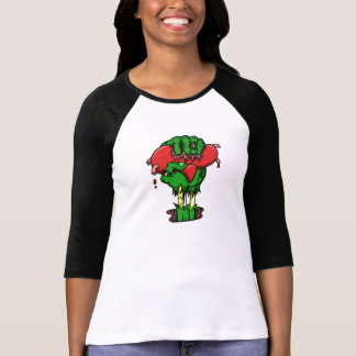 Women's Zombie Heart 3/4 Length Shirt