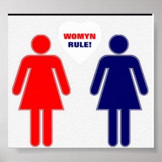 WOMYN RULE! POSTER