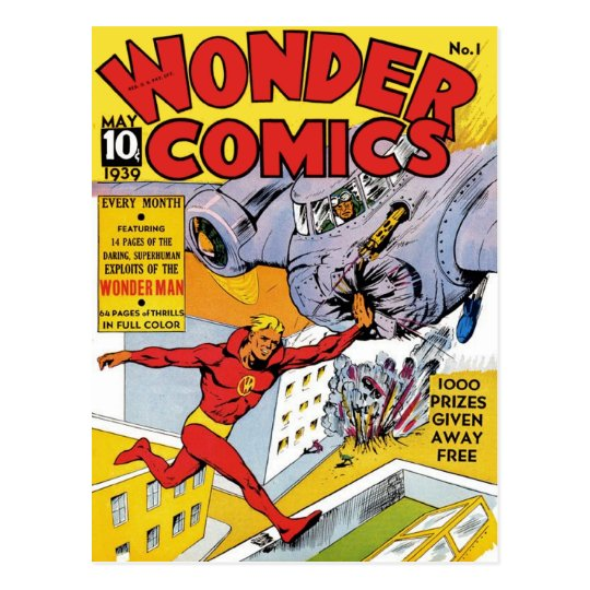 Wonder Comics 1 Postcard