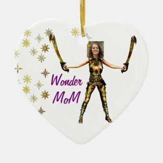 Wonder Fairy Princess, Swords - Insert YOUR Photo- Ceramic Ornament