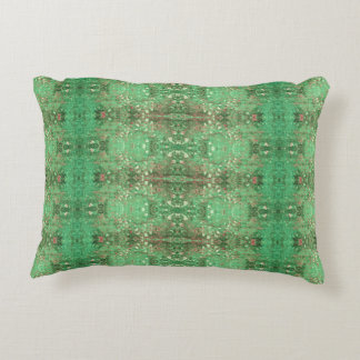 'Wonder' Green and Red Pattern Accent Pillow