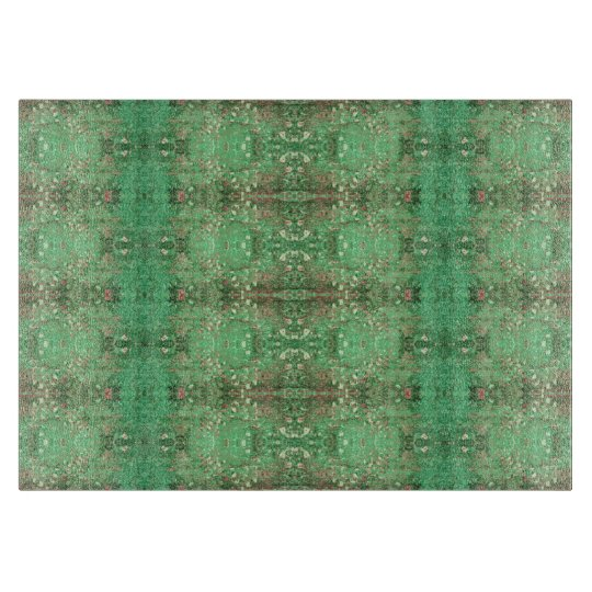 'Wonder' Green and Red Pattern Cutting Boards