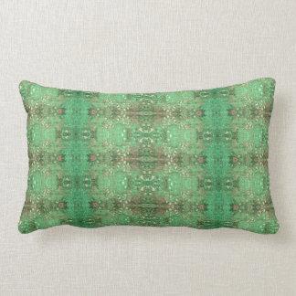 'Wonder' Green and Red Pattern Lumbar Pillow