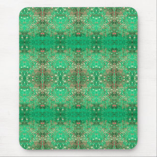 'Wonder' Green and Red Pattern Mouse Pad