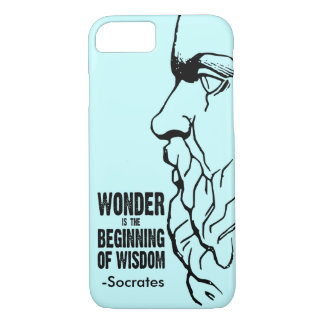 Wonder Is The Beginning Of Wisdom - Socrates Quote iPhone 8/7 Case