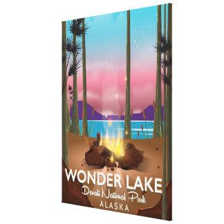 Wonder Lake, Denali national park Alaska Canvas Print