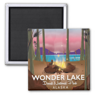 Wonder Lake, Denali national park Alaska Magnet