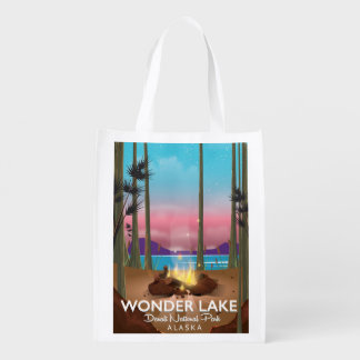 Wonder Lake, Denali national park Alaska Reusable Grocery Bag