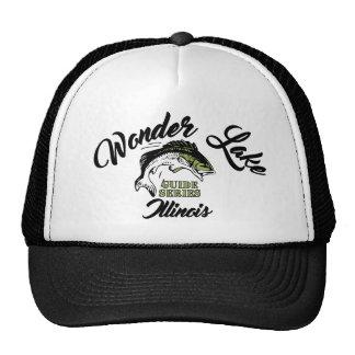 Wonder Lake Illinois Bass Trucker Hat