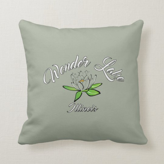 "Wonder Lake Lilly 2 sided Throw Pillow 16"" x 16"""