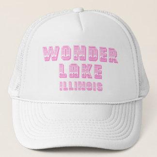 Wonder Lake Waterline Pink And White Trucker Hat
