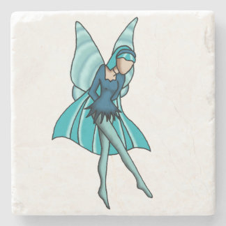 """Wonder"" Simple Fairy Beverage Coaster"