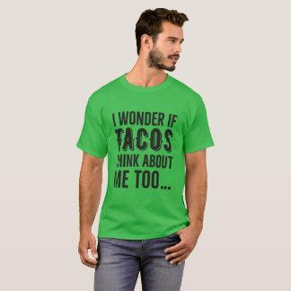 Wonder Tacos Thinking Men's Dark T-Shirt