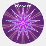 Wonder (Virtue sticker) Round Sticker