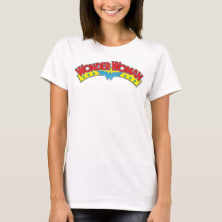 Wonder Woman 1987 Comic Book Logo T-Shirt