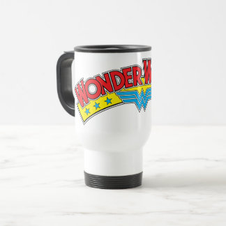 Wonder Woman 1987 Comic Book Logo Travel Mug