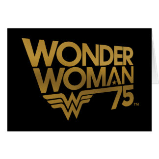 Wonder Woman 75th Anniversary Gold Logo Card