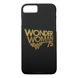 Wonder Woman 75th Anniversary Gold Logo iPhone 8/7 Case