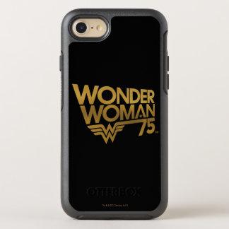 Wonder Woman 75th Anniversary Gold Logo OtterBox Symmetry iPhone 8/7 Case