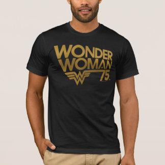 Wonder Woman 75th Anniversary Gold Logo T-Shirt
