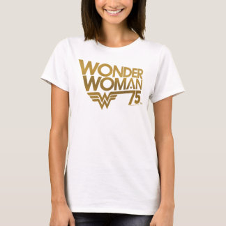 Wonder Woman 75th Anniversary Gold Logo T-Shirt