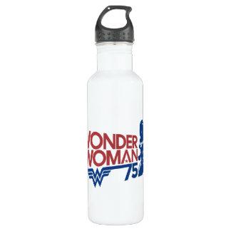 Wonder Woman 75th Anniversary Red & Blue Logo 710 Ml Water Bottle