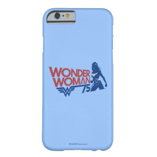 Wonder Woman 75th Anniversary Red & Blue Logo Barely There iPhone 6 Case