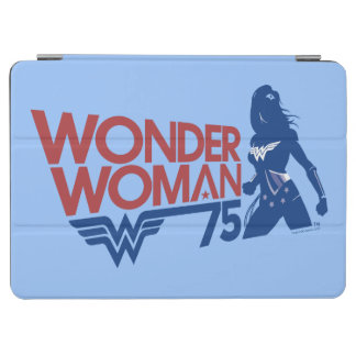 Wonder Woman 75th Anniversary Red & Blue Logo iPad Air Cover