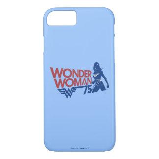 Wonder Woman 75th Anniversary Red & Blue Logo iPhone 8/7 Case